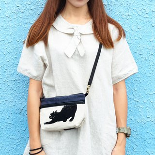 Maverick Village handmade cross-body bag small side backpack cloth bag [Mr. Mr. - Mini Crossbody Bag] SH-01