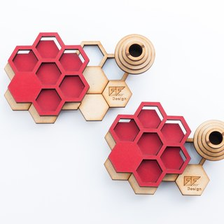 INFINITE wooden double coasters (red)