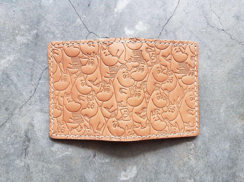 MOOMINx港產皮革 對摺咭套 材料包 卡片套 好好縫 正式授權 姆明