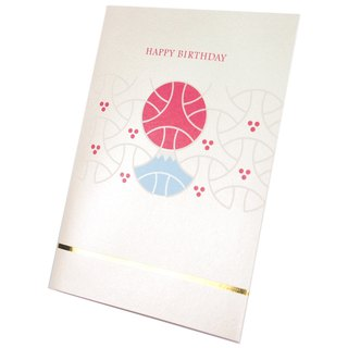Japanese traditional Fuji mountain combination [Hallmark-three-dimensional card birthday blessing]