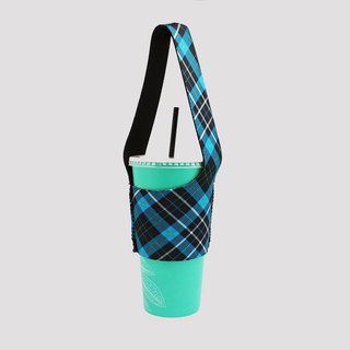 BLR green drink bag bag I go TU18 blue check pattern