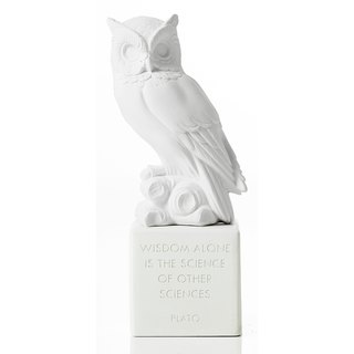 Ancient Greek Owl Ornament Sophia Owl (White) - Handmade Ceramic Statue
