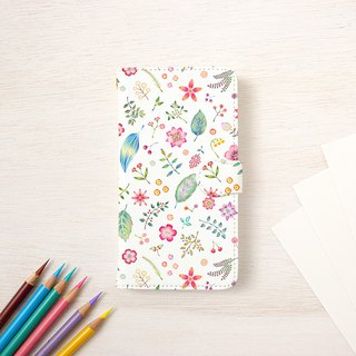 "Multicolored in Japanese. Handbook type smart case ""Peach flower bird color"" TSC - 406"