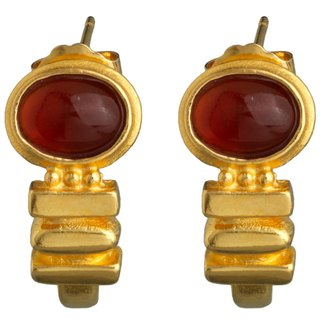 Greek style red agate earrings