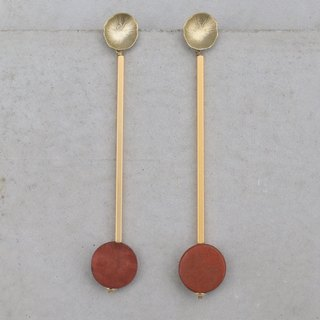 Brass Wood Earrings (1045) Events