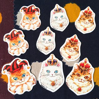 Sticker * Poker Cats * S/M size