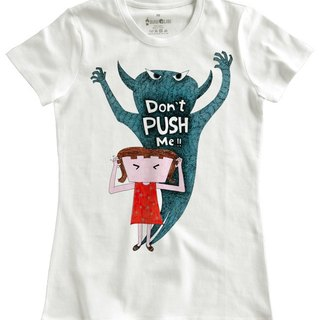 Classic white short-sleeved T-shirt_Don't PUSH Me!! (Female M out of stock)