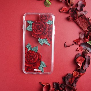 Two-in-one transparent anti-drop mobile phone case [rose]