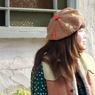 Droplet Stitch Cotton Beret