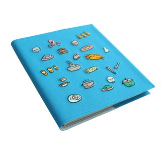 (Doughnut x LOOPY package price increase purchase area) Modern people's table calendar (blue)