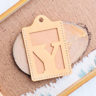 Initial letter Y letter sets of well-stitched leather material bag card holder name card holder free engraving