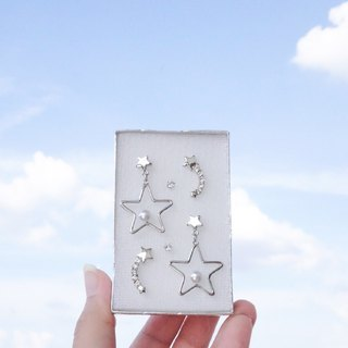 twinky star earring set box