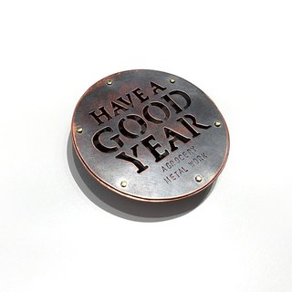 Hand-cut text magnet-2 / copper / Ag No. 045