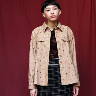 Pumpkin Vintage. Ancient electric embroidered denim jacket