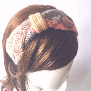Careful secret woven hair band woven hair accessories wool hair band warm color