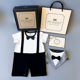 PUREST British gentleman little prince / short sleeve / baby gift set / newborn / Mi Yue gift preferred