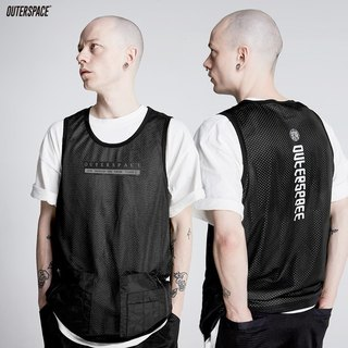 OUTER SPACE MA1 webbing pocket jersey vest T