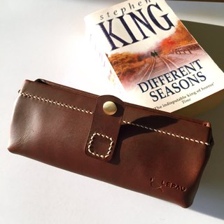 COLORFUL LEATHER BOX【BROWN】