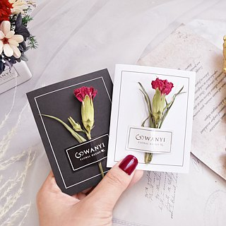 WANYI Rose Card Dry Flower / Room Arrangement / Marriage / Graduation / Wedding Small Things