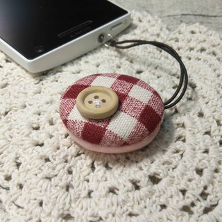 Chomii. Macaron strap rub the screen series headphone plug red cell buttons