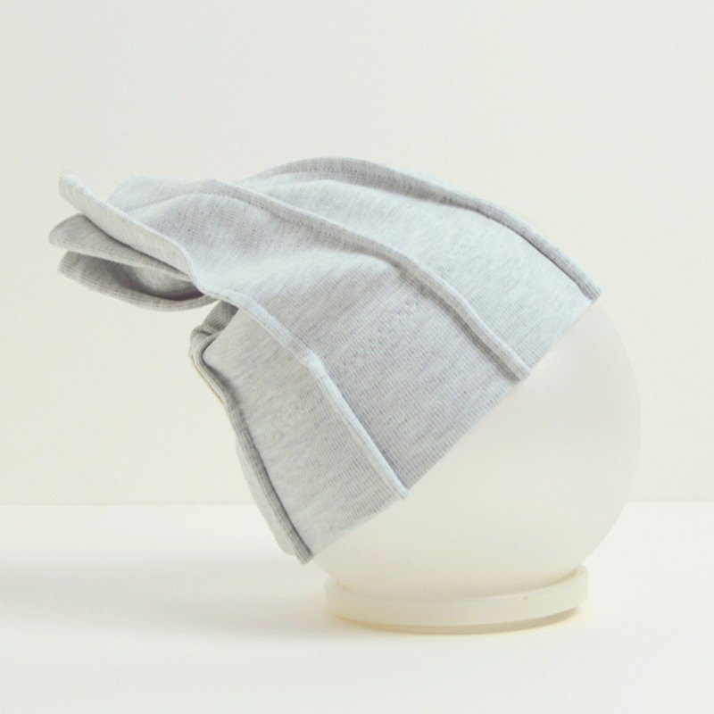 Rough Knit Baby Hat - Light Gray