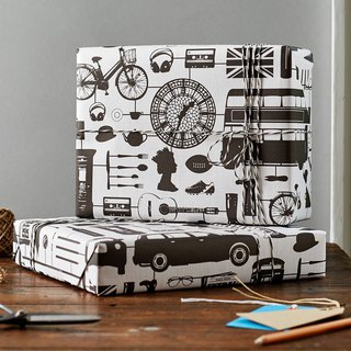 British egg wrapping paper London model