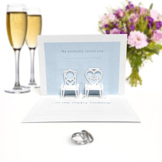 Wedding Chairs Invite Pop Up Card | Pop Up Card