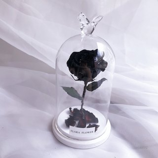(Black) Little Prince Eternal Flower Glass Graduation Gift/Eternal Flower/Not Withered