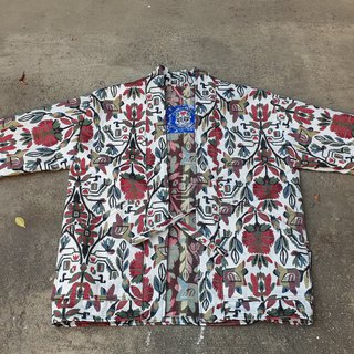 AMIN'S SHINY WORLD handmade KIMONO tulip flower full version blouse coat