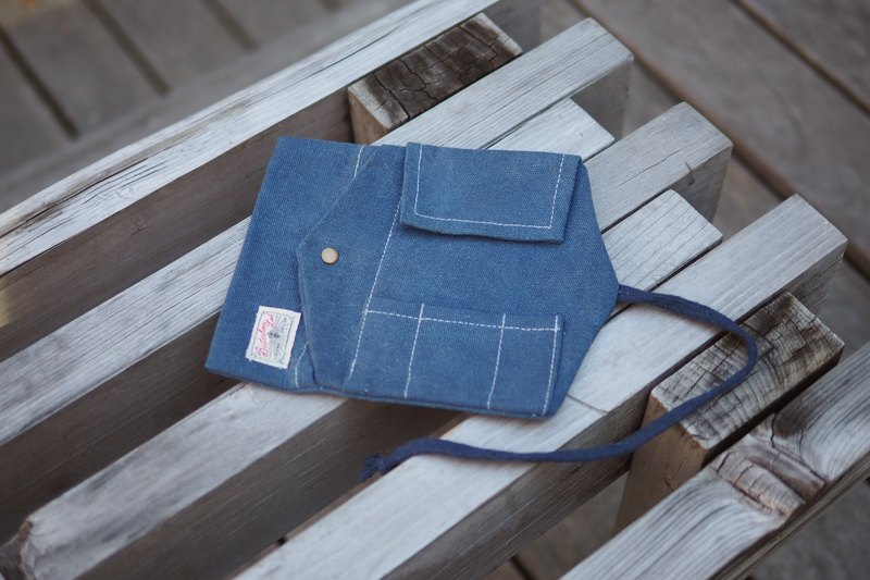 """Tools Roll"" tool roll canvas bag can put small stationery and accessories for the navy"