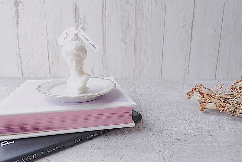 大衛雕像 可選色 | 100%天然大豆蠟手工精油蠟燭
