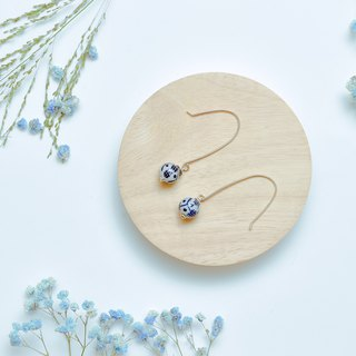 Ranran (earrings series) blue and white porcelain - simple models