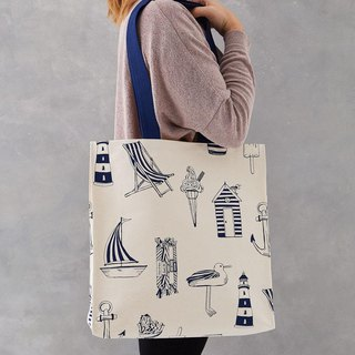 British egg cotton canvas bag sailing vacation