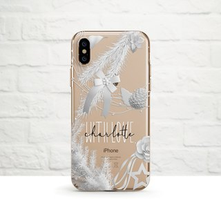 Personalise- White Christmas, iPhone Xs Max, Xr to iPhone SE/5, Samsung
