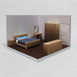 PaperCraft - Bedroom #001 - DIY dollhouse paper model