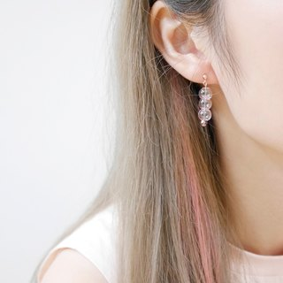 18K Rose Gold Pink 004 Bubble Bubbles Earrings