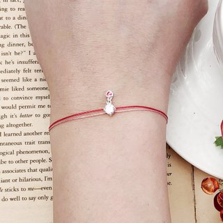 Sterling Silver Claw Diamond Love Zircon Bracelet Red Line Hand Strap Single Diamond Don't Give Love Trick or Treat Halloween