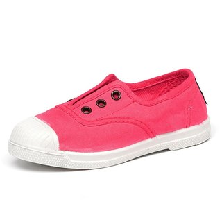 Spanish handmade canvas shoes / 470 three holes classic / children's shoes / pink