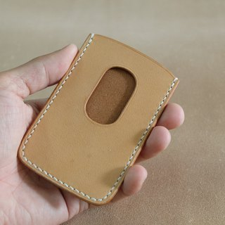 Ultra-thin leather card holders Italian vegetal