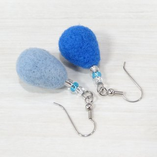 Wool Water drops earring