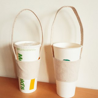 Cotton Canvas Beverage Bag Beverage Cup Set Eco Bag Baguette Bart Available