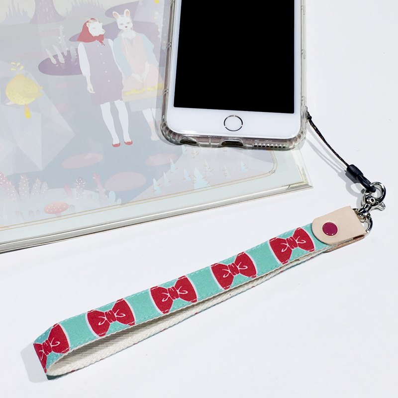 Bow mobile phone sling / hand rope / jewelry multi-color optional