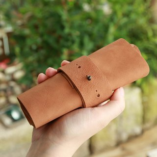 Calf Skin Leather Roll, Soft Leather life style roll, Traveller Organizer