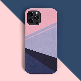 Geometric/pink Phone case