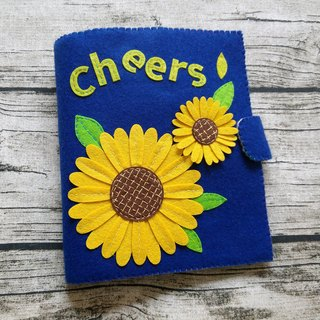 Handmade Quiet Book【5 pages】 [C02]  Sun Flowers