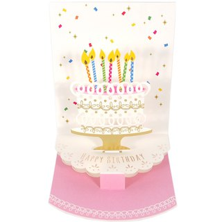 Presenting big cakes and candles for you [Hallmark-three-dimensional card birthday greeting]