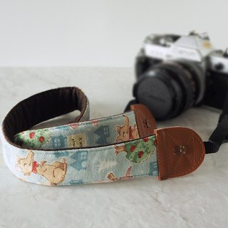 Hand-made decompression camera strap manual camera back rope camera strap (Wolf and Red Riding Hood) S17