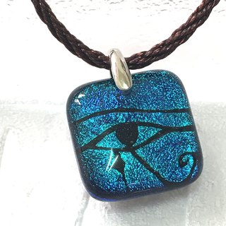 Eye of Horus - Sapphire Blue Jewelry Glass Necklace