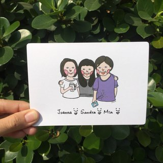 Illustrator Postcard - Customization - respect our friendship