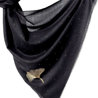 Angel Woolen Indian Pashmina Handmade Cashmere Shawl Rebecca Shining Rays - Black